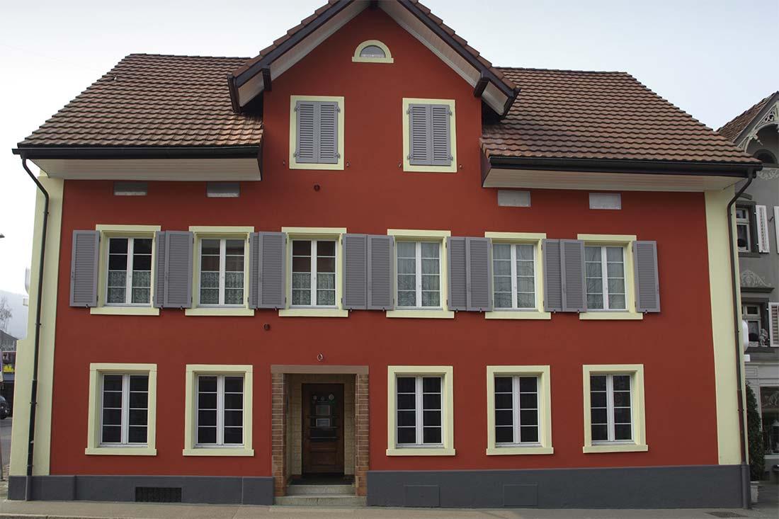 Eitelkeit Farbgestaltung Fassade Das Beste Von Güggeli-pub, Frick, Nachher Zoom